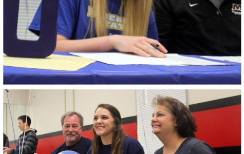 Volleyball Teammates Sign for Division One Spots