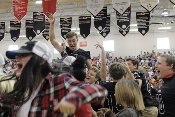 Pep rally celebrates first home game