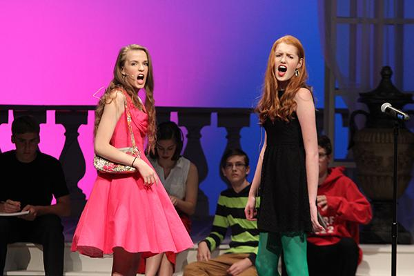 Emily Knorr, 18, and Lauren Coltharp, 18, sing What Is This Feeling? from Wicked