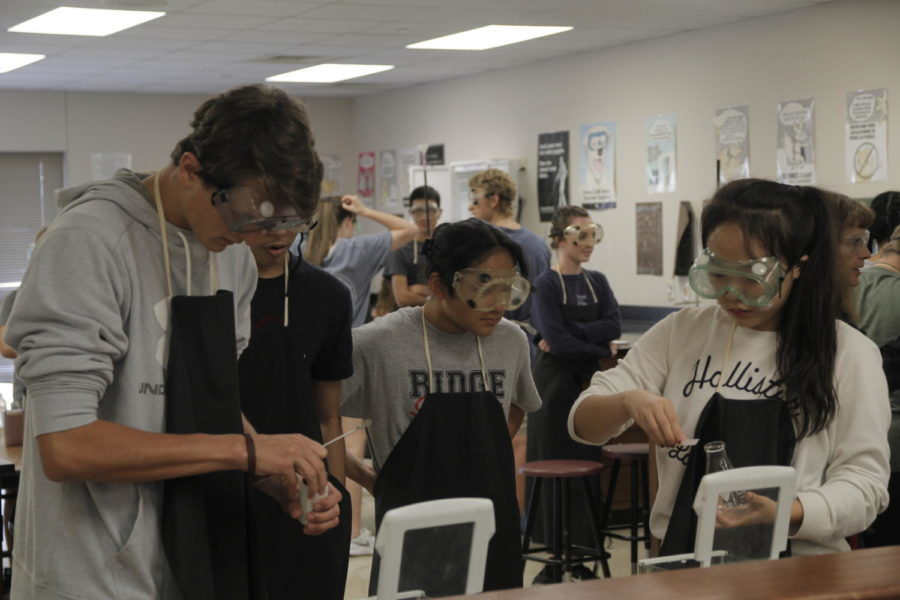 Students do activities during third period, on Oct. 5